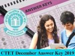 Ctet December Answer Key 2019 Pdf Download Ctet Nic In