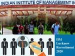 Iim Lucknow Recruitment 2020 Non Teaching Posts