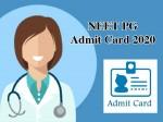 Neet Pg Admit Card 2020 Download Link Nbe Edu In
