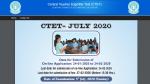 Ctet July Registration 2020 Cbse Ctet 2020 Notification Pdf Download