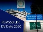 Rsmssb Ldc Dv Date 2020 Notification Schedule Download See List
