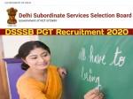 Dsssb Pgt Recruitment 2020 Apply Online