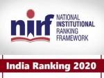 Nirf Rankings 2020 List