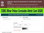 Csbc Admit Card 2020 Download For Bihar Police Constable Pet Exam
