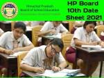 Hp Board 10th Date Sheet
