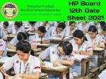 Hp Board 12th Date Sheet
