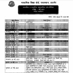 Rajasthan Board 10th 12th Date Sheet 2021 Released Rbse Time Table 2021 Class 10 12 Pdf Download