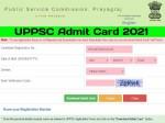Uppsc Pcs Mains 2021 Admit Card Download