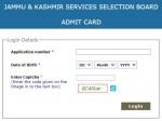 Jkssb Admit Card 2021 Download Direct Link