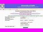 Delhi University Result 2021 Du Open Book Exam Result Marksheet Download