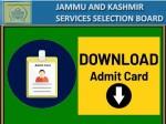 Jkssb Admit Card 2021 Download Link