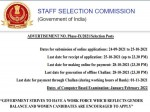 Ssc Recruitment 2021 Notification Phase 9 Apply Online For 3261 Post Application Form Registration
