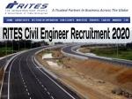 RITES Recruitment 2020: राइट्स इंजीनियर सिविल भर्ती 2020 के लिए 23 मार्च तक करें आवेदन