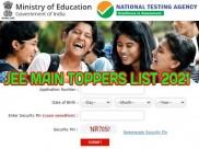 JEE Main Paper 2 Result 2021 State Wise Toppers List: दो छात्रों ने किया 100% स्कोर, जेईई टॉपर्स लिस्ट देखें
