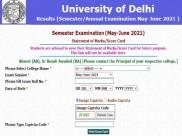 DU Final Semester Result 2021 Check: दिल्ली विश्वविद्यालय फाइनल सेमेस्टर रिजल्ट 2021 मार्कशीट डाउनलोड करें