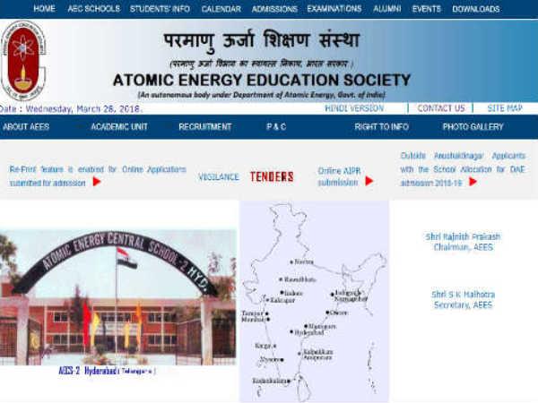 परमाणु ऊर्जा शिक्षण सोसाइटी शिक्षक भर्ती 2018