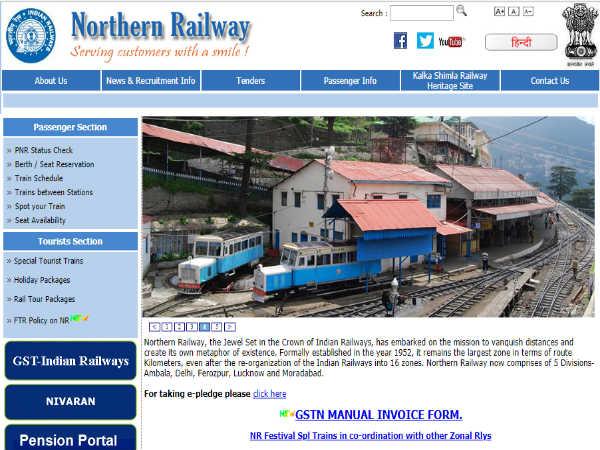 उत्तर रेलवे भर्ती 2018