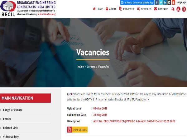 BECIL में निकली कई पदों पर भर्ती, ऑफलाइन माध्यम से करें आवेदन