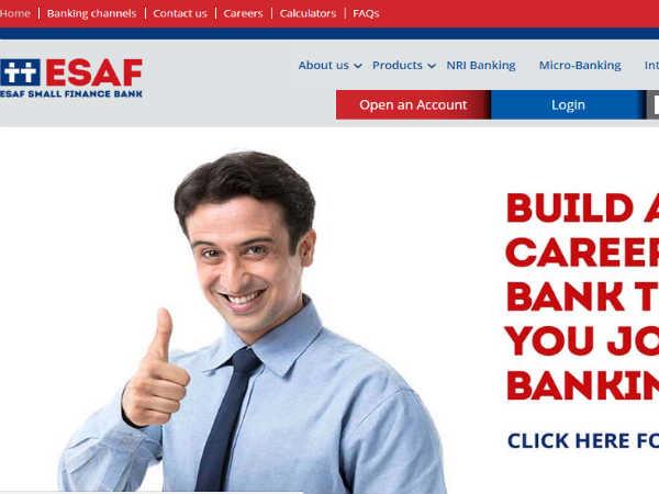 ESAF लघु वित्त बैंक में निकली 3000 पदों पर भर्ती