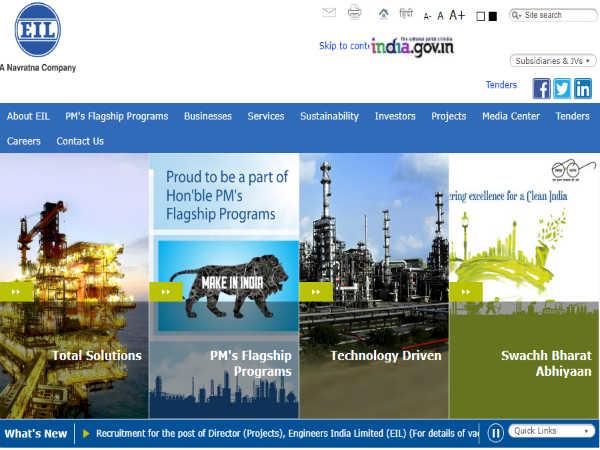 इंजीनियर्स इंडिया लिमिटेड (EIL) के 141 पदों पर इंटरव्यू से हो रही है भर्ती