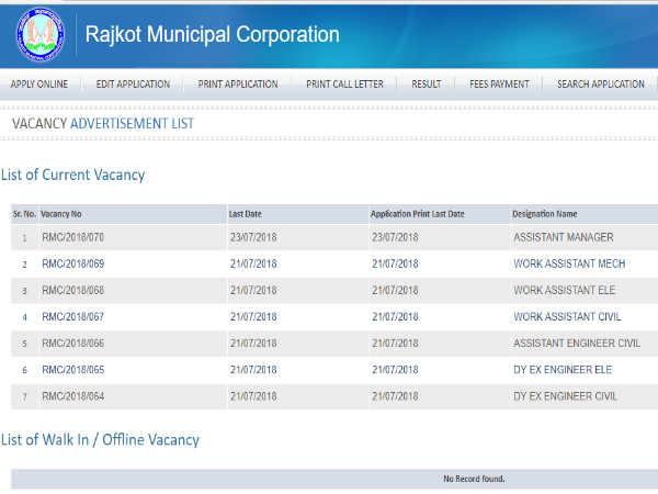 राजकोट म्युनिसिपल कॉर्पोरेशन में 140 विभिन्न पदों पर भर्ती, ऐसे करें आवेदन