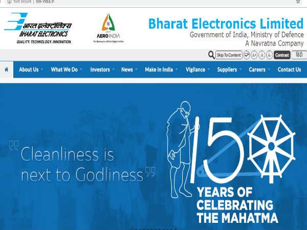 भारत इलेक्ट्रॉनिक्स लिमिटेड (BEL) में कॉन्ट्रैक्ट इंजीनियर के पदों पर भर्ती, ऐसे करें आवेदन