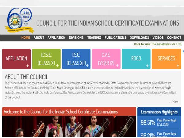 ICSE ISC बोर्ड एग्जाम 2019 10वीं-12वीं का टाइम टेबल जारी, यहां देखें परीक्षा कार्यक्रम