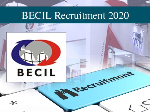 BECIL Recruitment 2020 / बीईसीआईएल भर्ती 2020: 8वीं पास के लिए निकली 4000 नौकरी, ऐसे करें आवेदन