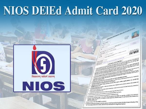 NIOS DElEd Admit Card 2020: एनआईओएस डीएलएड जनवरी परीक्षा एडमिट कार्ड dled.nios.ac.in से करें डाउनलोड