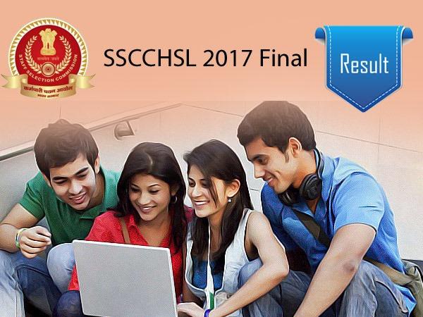 एसएससी सीएचएसएल 2017 का रिजल्ट 20 दिसंबर 2019 को आधिकारिक वेबसाइट ssc.nic.in पर घोषित किया जाएगा।
