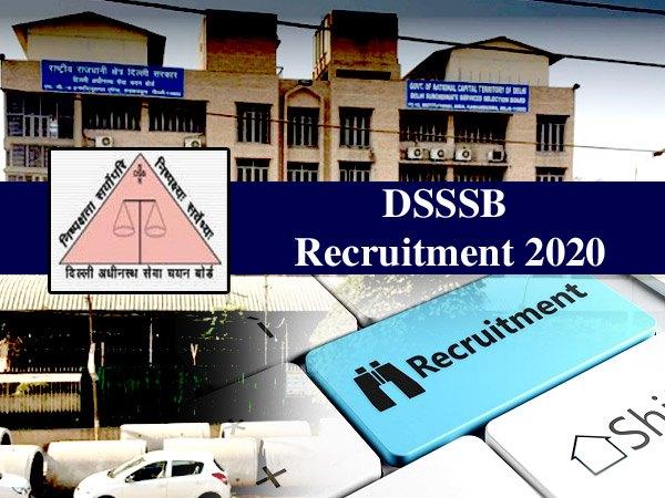 DSSSB Recruitment 2020 / डीएसएसएसबी भर्ती 2020: दिल्ली में 10वीं पास के लिए सरकारी नौकरी का मौका