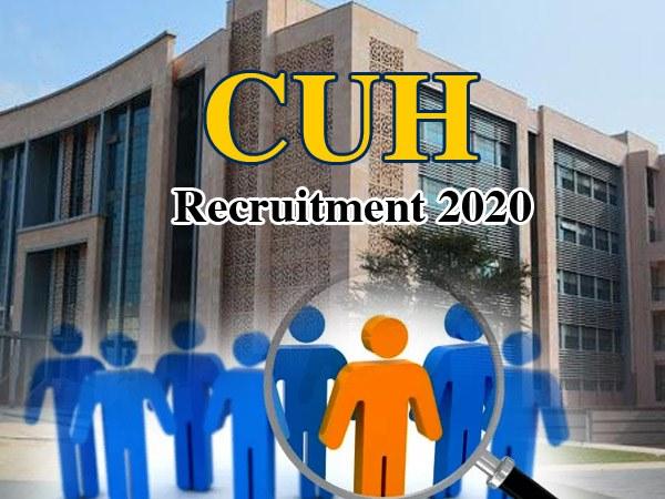 Haryana CUH Recruitment 2020 / हरियाणा सीयूएच प्रोफेसर भर्ती 2020 के लिए 30 जनवरी तक करें आवेदन