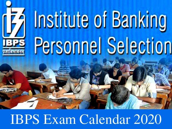 IBPS Exam Calendar 2020 / आईबीपीएस एग्जाम 2020 कैलेंडर: जानिए कब होंगी क्लर्क, पीओ, एसओ की परीक्षा