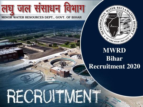 MWRD Bihar Recruitment 2020/ एमडब्ल्यूआरडी बिहार भर्ती 2020: पटना में सरकारी नौकरी के लिए करें Apply
