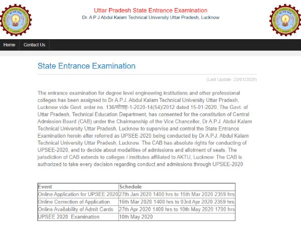 UPSEE 2020 Online Registration: यूपीएसईई 2020 ऑनलाइन रजिस्ट्रेशन प्रक्रिया आज से शुरू