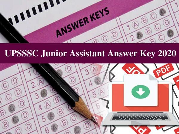 UPSSSC Junior Assistant Answer Key 2020: यूपीएसएसएससी जूनियर असिस्टेंट आंसर की 2020 डाउनलोड करें