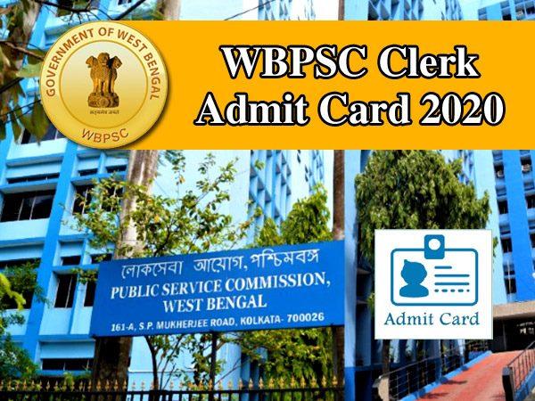 WBPSC Clerkship Admit Card 2020 डब्ल्यूबीपीएससी क्लर्क परीक्षा एडमिट कार्ड 2020 डाउनलोड का तरीका