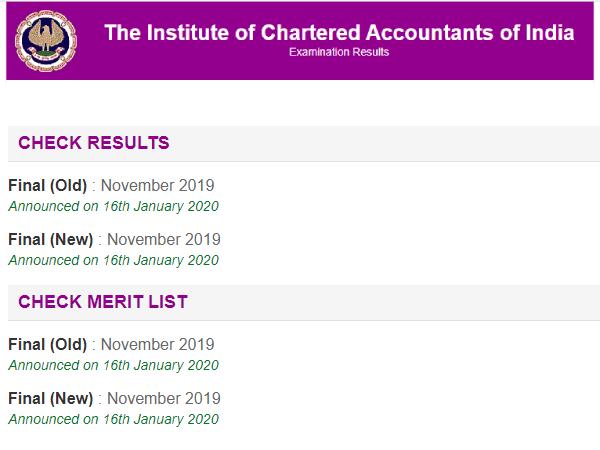 ICAI CA Foundation Result 2020: आईसीएआई सीए फाउंडेशन रिजल्ट 2020 icai.org.in पर जारी, ऐसे करें चेक