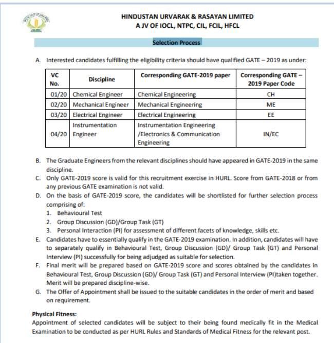 HURL Recruitment 2020: एचयूआरएल इंजिनियर भर्ती 2020 का नोटिफिकेशन जारी, 15 मार्च तक करें आवेदन