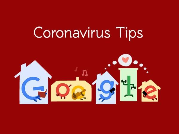 Coronavirus Tips: गूगल ने डूडल बनाकर बताए कोरोनावायरस से बचाव के टिप्स