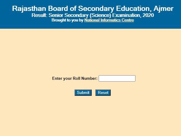 Rajasthan Board 12th Result 2020 Check: आरबीएसई 12वीं साइंस रिजल्ट 2020 रोल नंबर से ऑनलाइन चेक करें
