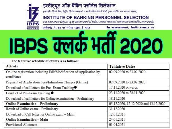 IBPS Clerk Recruitment 2020: आईबीपीएस क्लर्क भर्ती का नया नोटिफिकेशन जारी, 23 सितंबर तक करें आवेदन