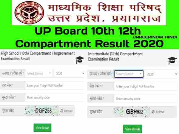UP Board Compartment Result 2020: यूपी बोर्ड 10वीं 12वीं कंपार्टमेंट रिजल्ट जारी, मोबाइल पर करें चेक