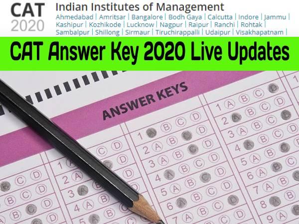 CAT Answer Key 2020 Live Updates: कैट आंसर की 2020 रिस्पोंस शीट डाउनलोड करें, 11 दिसंबर तक आपत्ति