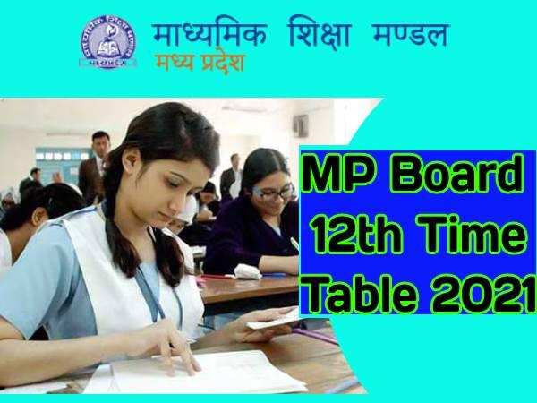 MP Board 12th Time Table 2021 Download: एमपी बोर्ड 12वीं डेट शीट 2021 जारी, ऐसे करें डाउनलोड