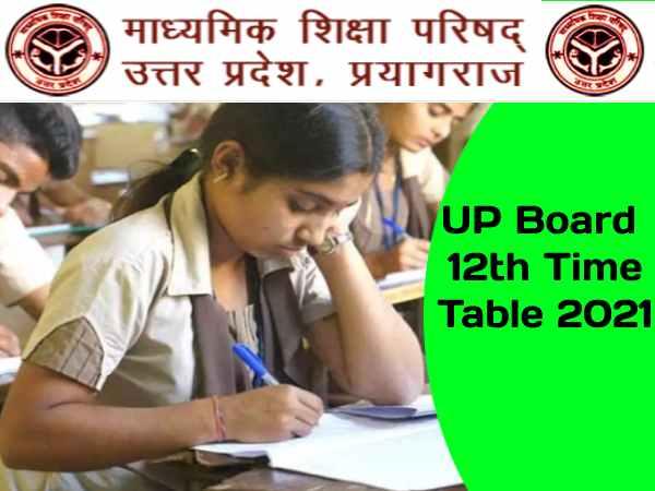 UP Board Time Table 2021 Class 12 PDF Download: यूपी बोर्ड 12वीं डेट शीट 2021 पीडीएफ डाउनलोड करें