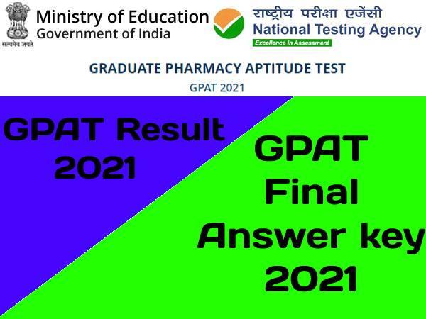 GPAT Final Answer Key 2021 PDF Download: जीपेट फाइनल आंसर की जारी, थोड़ी देर में जारी होगा रिजल्ट