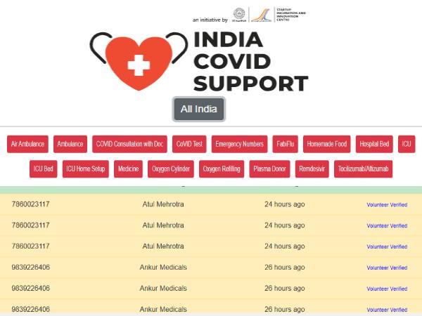 Verified Covid 19 Helpline: ऑक्सीजन, प्लाज्मा डोनर, दवाओं और आईसीयू बेड समेत पूरी जानकारी यहां देखें