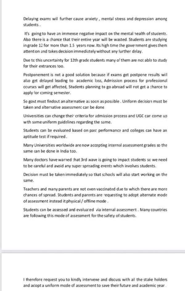 12th Board Exams 2021 Cancellation Live Updates: पेरेंट्स एसोसिएशन ने PM मोदी को लिखा पत्र, देखें