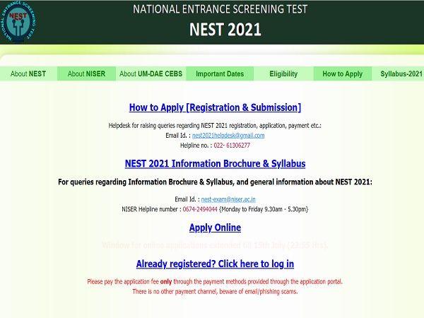 NEST 2021 Exam Postponed: एनईएसटी 2021 परीक्षा रद्द, आवेदन की अंतिम तिथि बढ़ी- जानिए परीक्षा तिथि